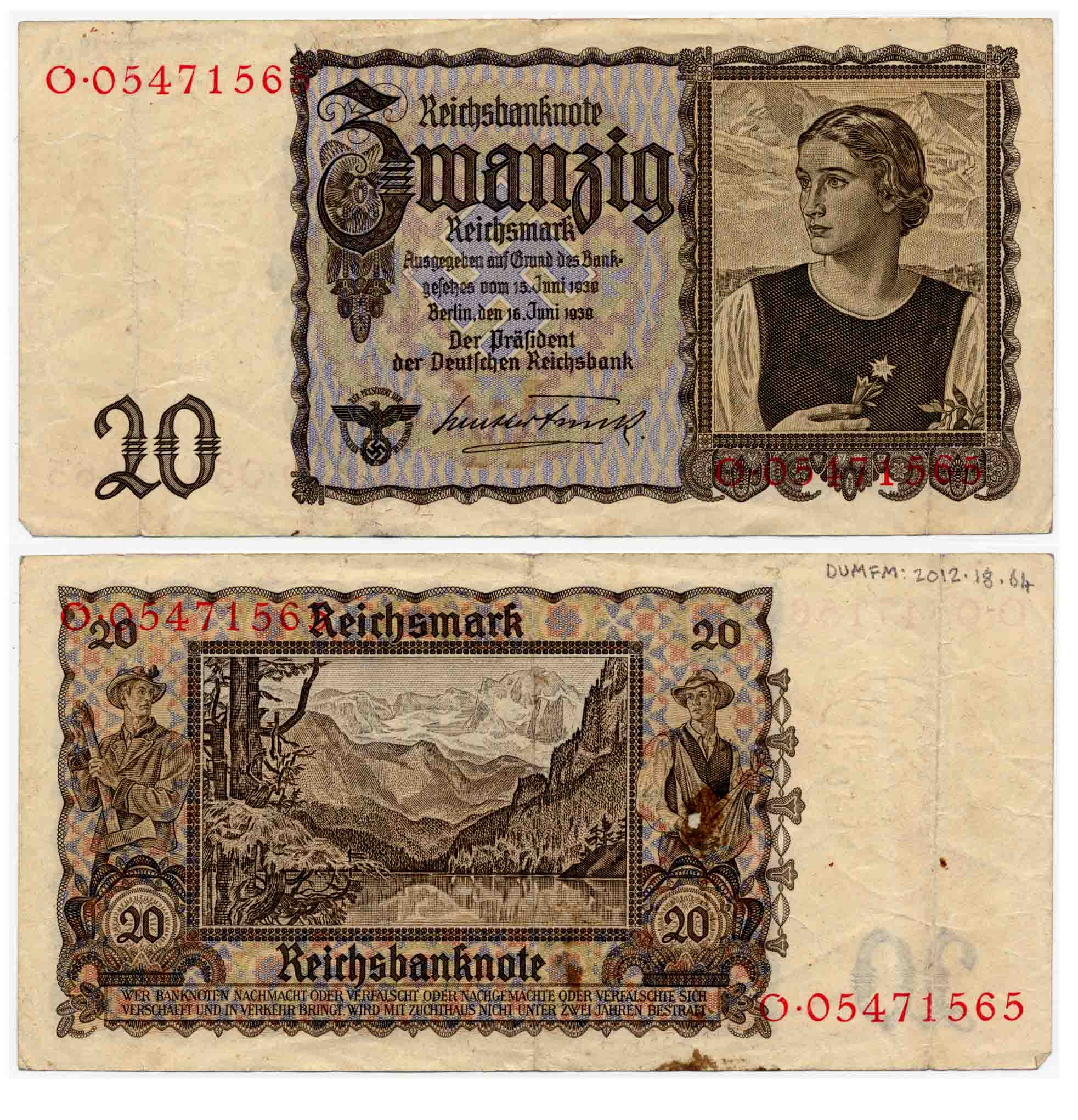 Reichsmarks notes