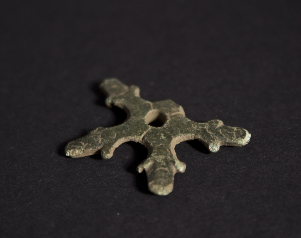 DMTT010a 2004.22.5 Metal Mount Decorative Fragment Spur (star ) , Kilncroft Farm Holywood