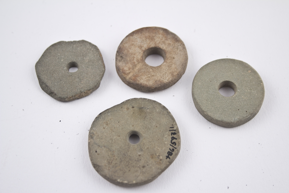 WTAH104A  Stone Spindle Whorls